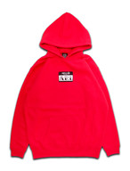 LOGO PATCH FLOWER HOODIE red