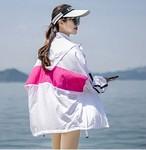 UVカットパーカー フード付き S~L 4色 スポーティ ビッグシルエット 運動 ビーチ アクティブ 通気性抜群 長そで UV