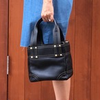 Leather boxtotobag(black)