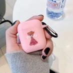 【注文商品】Cute Chocolate Stick Snack Soft Silicon Airpodsケース【Pink】
