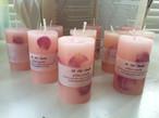 Rose pillar candle ローズピラーキャンドル