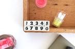 【いろいろデザイン】数字スタンプセット