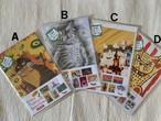 猫の足あと お得なポストカード5枚セット