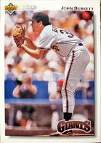 MLBカード 92UPPERDECK John Burkett #148 GIANTS