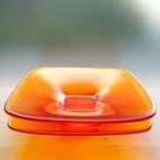あめ色のシカク皿 2枚セット