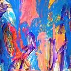 絵画 絵 ピクチャー 縁起画 モダン シェアハウス アートパネル アート art 14cm×14cm 一人暮らし 送料無料 インテリア 雑貨 壁掛け 置物 おしゃれ ロココロ 現代アート 抽象画 画家 : tamajapan 作品 : t-06