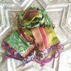 Kantha Silk stole (Fresh green)