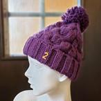 ナンバーニット帽(パープル)