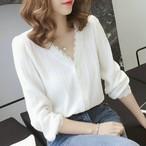 【配送優先】【tops】清新プルオーバーファッションシャツ26926168