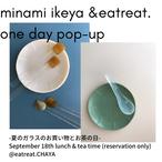 池谷三奈美 & eatreat. popup 平皿とれんげのセット(お茶の回)