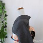 【Y様ご予約品】結城紬 深い墨色に飛び柄の小紋 単衣