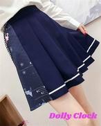 【タイムセール】折り紙プリーツスカート(Aライン/学院風/制服風)