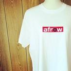 afrow オリジナル ☺︎ ボックスロゴ Tシャツ ☺︎Oの部分は レコード になってるよ!