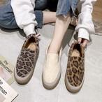 【shoes】ヒョウ柄丸トゥ合わせやすいフラットシューズ 23828584