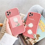 Red white rose iphone case