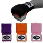 GOSSA ボクシング 簡単 バンテージ 【Mサイズ】 マジックテープ式 インナーグローブ 衝撃吸収ゲルパッド入り