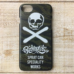 RAKUGAKI Stencil Skull Logo iPhone Case For iPhone7 Tiger Stripe Black