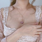 Milky Rose Blossom Necklace