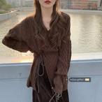 【送料無料】秋冬の時短セットアップ♡ニット スカート 2点セット コーデュロイスカート ケーブルニット こなれ感