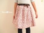 フランネルのお姉さんスカート(ピンク小花・USAコットン)