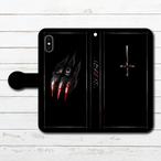 #033-004 iPhoneケース スマホケース 手帳型 全機種対応 ホラー クール エクスペリア iPhoneXS/X Xperia iPhone5/6/6s/7/8 ケース おしゃれ メンズ Galaxy ARROWS AQUOS HUAWEI Zenfone タイトル:oscar 作:ぐーぱんち。