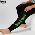 MARRIONAPPAREL LOGO SWEATPANTS (Black×Green)
