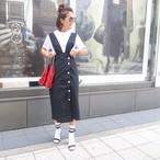 ボタンジャンパースカート(ブラック)