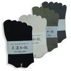 和紙靴下 五本指薄手レギュラーサイズ