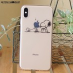 スヌーピーiPhoneケース SNOOPY CampFire [iPhoneX/8/7/7Plus/6s/SE]