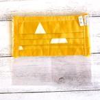 【おおやまとみこ】プリーツ布マスク(裏地付き・三角)・レディースサイズ/マスク