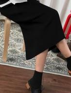 ニットスリットロングスカート ニットスカート 韓国ファッション