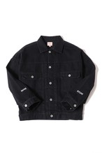 13oz Denim  Jacket / onewash / black