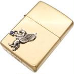 (9月)サファイア 有翼の ユニコーン オフセットブラスジッポ 誕生石*BZ-1009