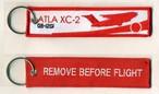 REMOVE BEFORE FLIGHTキーホルダー/ATLA XC-2