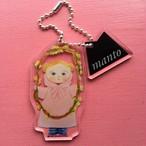 manto キーホルダー 「O ピンクのマント」