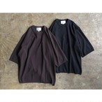 STILL BY HAND(スティル バイ ハンド) Cotton Silk Half Sleeve Knit T-Shirt