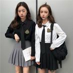 【set】[単品注文]ファッションシングルブレストシャツ+スカートセットアップ26975136