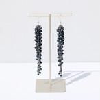 wooden bleu beads / Pierces
