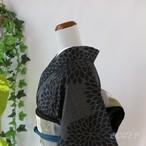 正絹紬 狢菊の総柄小紋 袷