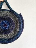 T様ご検討品/たくさんの冬色糸で編んだグルグルBAG2