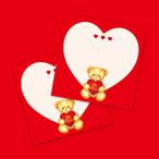 バレンタインベア - メモパッド