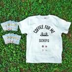 レターパック限定セット③(コーヒーバッグ2セットとTシャツ1枚と缶バッチ4個
