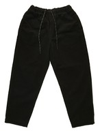Elastic Cord Baggies Pants / Black×Green