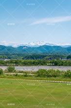 写真素材: 霊峰白山の遠望(川北町コミュニティ&スポーツ公園)