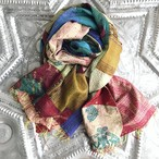 Kantha Silk Stole (Patchwork/ Bicolor type)