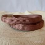 正絹 ピンクモカ色の三分紐