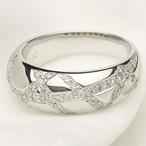 ダイヤモンド デザインリング K18WG ホワイトゴールド