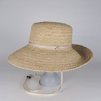 SS21-BD-11 Wide Raffia Long Brim Hat - NAT/BEG