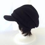 """Unisex ニットキャスケット"""" 大人用 つけ毛付き:wig/レイヤーボブ/男女兼用/フリー M~L"""