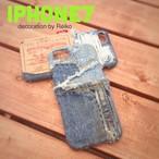 デニムiPhone7カバー